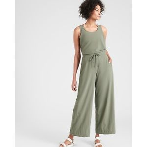 Athleta Revive jumpsuit in pale green